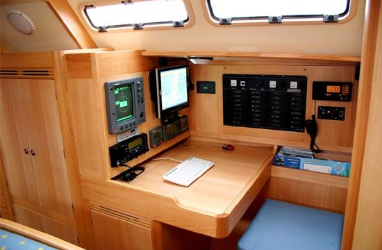 Marine carpentry woodworks boat furniture for Boat kitchen cabinets